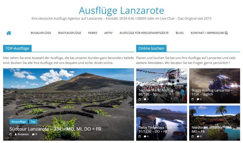 Ausflüge Lanzarote bietet Ausflüge online
