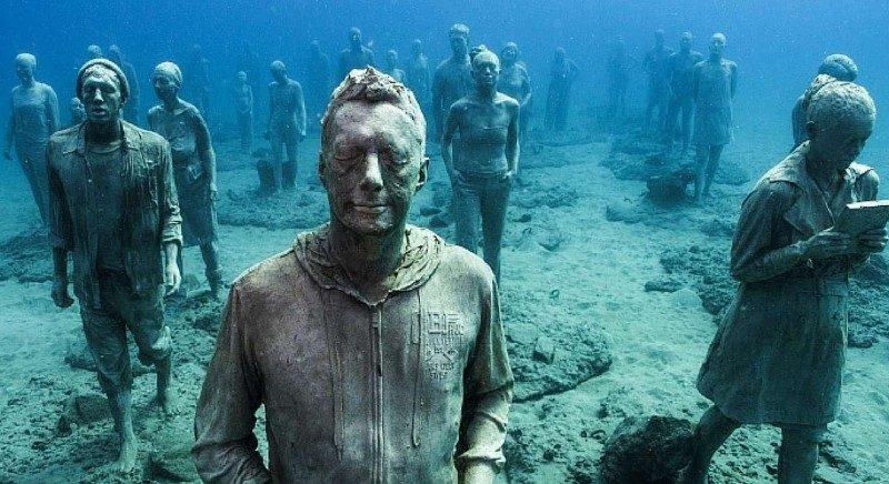 Tauchgang Unterwassermuseum Lanzarote