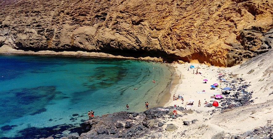 Playa Montaña Amarilla auf La Graciosa