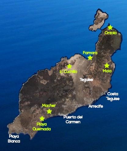 Flugspots Gleitschirm Tandemflüge Lanzarote