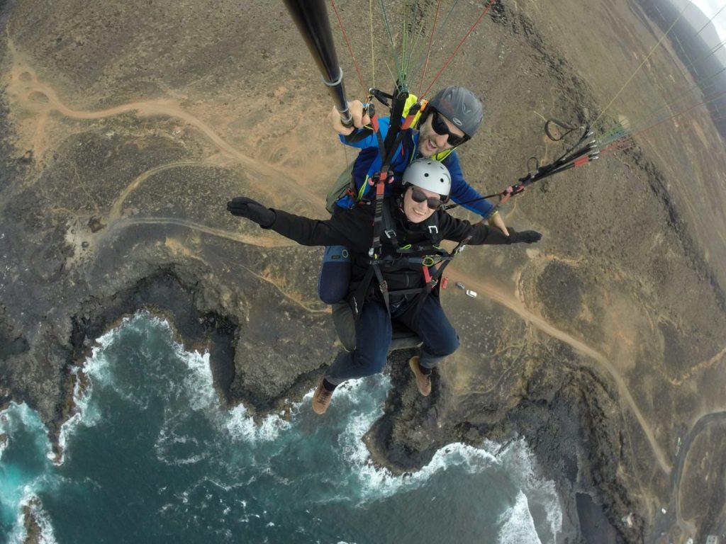 Foto vom Gleitschirm Tandemflug Lanzarote