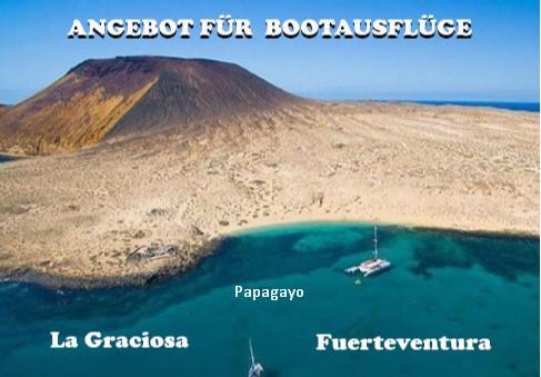 Angebot für Bootsausflüge auf Lanzarote