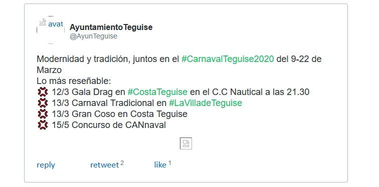 Karneval Costa Teguise 2020