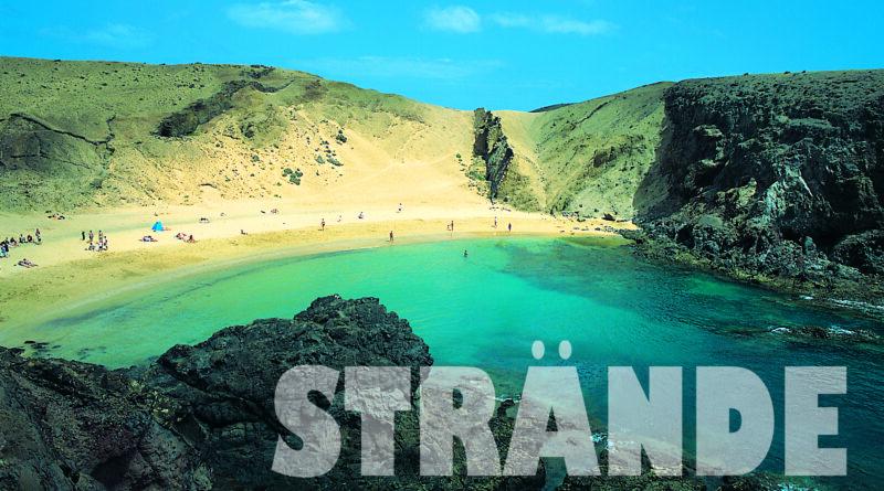 Schöne Strände auf Lanzarote