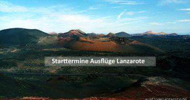 Starttermine Ausflüge Lanzarote