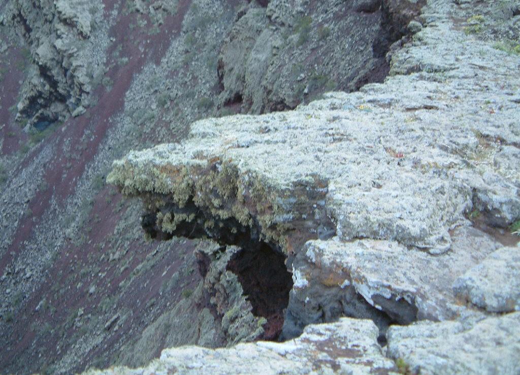 Wanderung Vulkankegel La Corona: innen