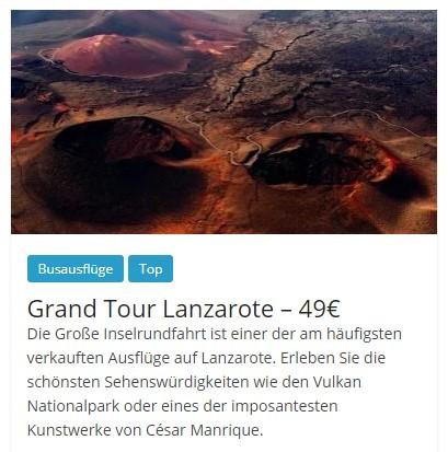 Die besten Busausflüge auf Lanzarote: Grand Tour