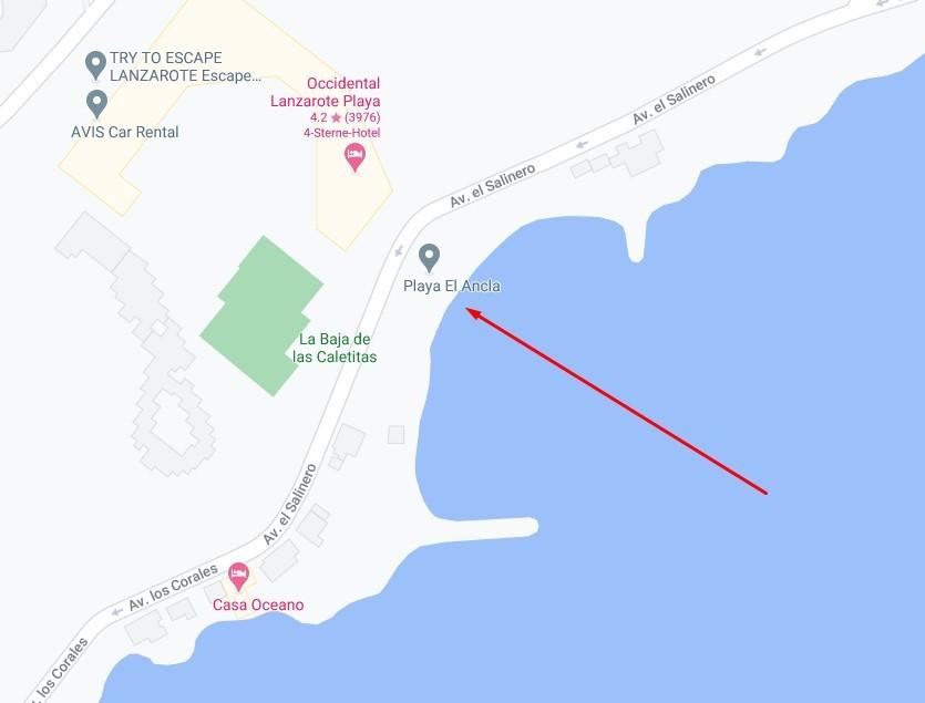 Playa El Ancla in Costa Teguise
