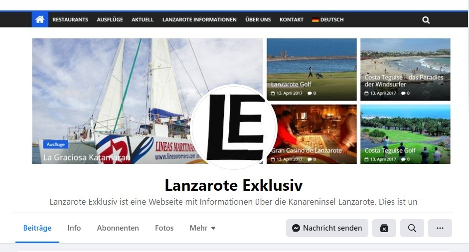 Lanzarote Exklusiv Facebook Seite