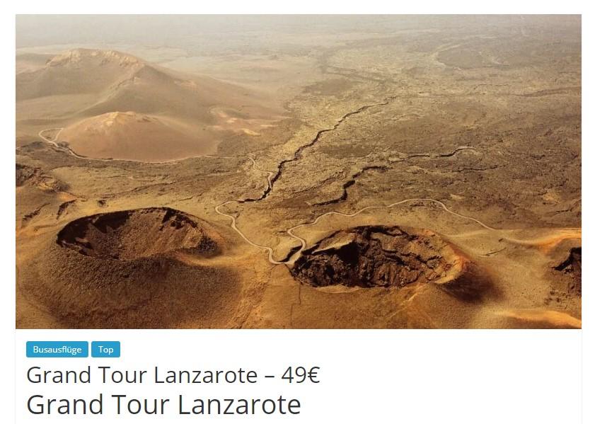 Starttermine für Ausflüge: Grand Tour Lanzarote
