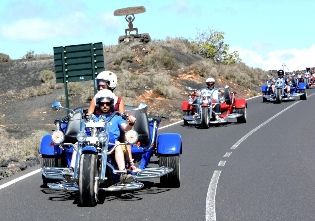 Trike durch dir Vulkane auf Lanzarote